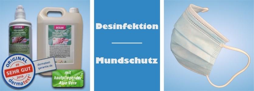 002 Desinfektion Mundschutz