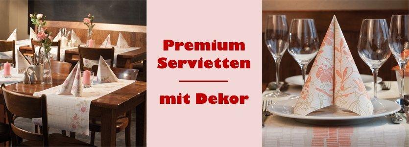 Premium Servietten mit Dekor