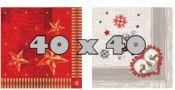 Weihnachts-Servietten 40 x 40 cm