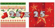 Weihnachts-Servietten 25 x 25 cm