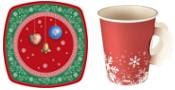Weihnachts-Teller & Weihnachts-Becher