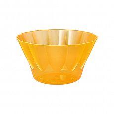 Papstar Eis- und Dessertschalen, PS rund 500 ml Ø 13 cm, 7,5 cm orange, 12172
