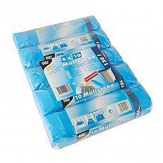 Papstar Müllsäcke zum Zuziehen, HDPE 120 l 100 cm x 70 cm blau, 12433, 200 Stück