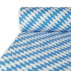 Papiertischtuch mit Damastprägung 50 m x 1 m Bayrisch Blau, Papstar (12544)