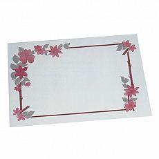 Tischsets, Papier 30 cm x 40 cm weiss Blumenranke, Papstar (12557), 1000 Stück