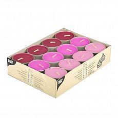Papstar Teelichte Ø 38 mm, 16 mm rosa, pink, brombeere, 15239, 192 Stück