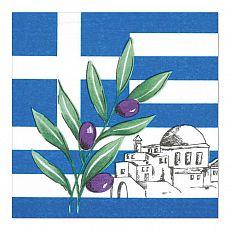 Servietten, 3-lagig 1/4-Falz 33 cm x 33 cm Greece, Papstar (17951)