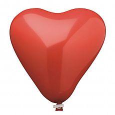 Luftballon, Maxi Ø 44 cm rot Heart mit Verschlußclip, Papstar (18814)