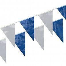 Wimpelkette, Folie 10 m blau/weiss wetterfest, Papstar (19029)
