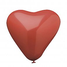 Luftballons Ø 26 cm rot Heart large, Papstar (19320)