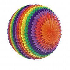 Streifenball Ø 50 cm Rainbow schwer entflammbar, Papstar (19396), 3 Stück