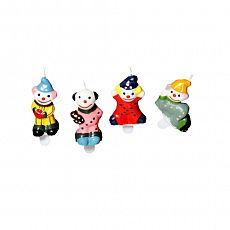 Geburtstagskerzen 4,5 cm Clown inkl. Halter, Papstar (19847), 40 Stück
