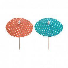 Deko-Picker 10 cm farbig sortiert Eisschirmchen Dots, Papstar (81116)