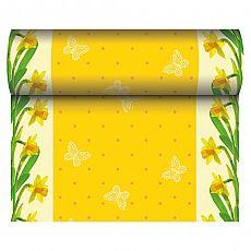 Tischläufer, stoffähnlich, Airlaid 24 m x 40 cm Daffodil, Papstar (81156), 6 Stück