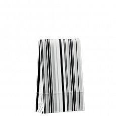Geschenktaschen 15,5 cm x 10 cm x 4 cm Stripes black&white klein, Papstar (81495), 200 Stück