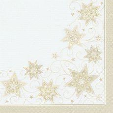 Servietten ROYAL Collection 1/4-Falz 40 cm x 40 cm champagner Just Stars, Papstar (82352)
