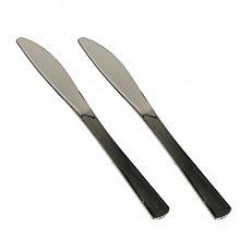 Messer, PS metallisiert 20 cm silber, Papstar (82363)