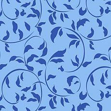 Servietten, 3-lagig 1/4-Falz 33 cm x 33 cm blau Ornamental Leaves, Papstar (82925), 360 Stück
