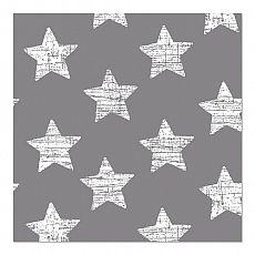 Servietten, 3-lagig 1/4-Falz 33 cm x 33 cm grau Vintage Stars, Papstar (82939), 360 Stück