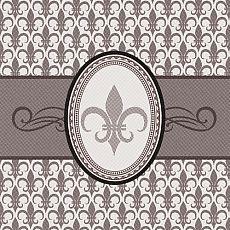 Servietten ROYAL Collection 1/4-Falz 33 cm x 33 cm Iris, Papstar (84186), 500 Stück