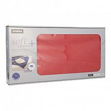 Mitteldecken, stoffähnlich, Vlies soft selection plus 80 cm x 80 cm rot, Papstar (84923), 100 Stück