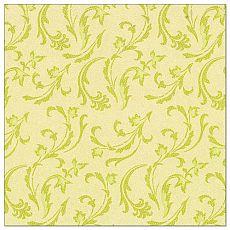 Servietten ROYAL Collection 1/4-Falz 40 cm x 40 cm limonengrün Damascato, Papstar (85000)