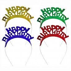 Papstar Haarreifen farbig sortiert Happy Birthday, 85189