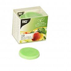 Duft Disks, Stearin Ø 35 mm, 5 mm grün - Sweet Apple, Papstar (85463), 120 Stück