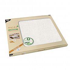 Papstar Tischsets, stoffähnlich, PV-Tissue ROYAL Collection Plus 30 cm x 40 cm weiss, 85781, 360 Stück