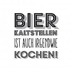 Servietten, 3-lagig Design Edition 1/4-Falz 33 cm x 33 cm Bierweisheit, Papstar (86010), 180 Stück