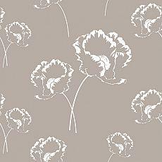 Servietten, 3-lagig 1/4-Falz 33 cm x 33 cm grau Poppy, Papstar (86337), 200 Stück