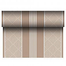 Tischläufer, stoffähnlich, PV-Tissue Mix ROYAL Collection 24 m x 40 cm braun Elegance, Papstar (86507), 4 Stück