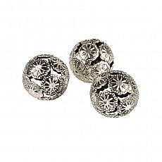 Deko-Kugeln aus Metall Ø 28 mm silber Marrakesch, Papstar (86515), 144 Stück