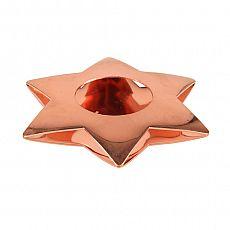 Papstar Kerzenhalter, Edelstahl Ø 110 mm kupfer Star für Teelichte, 86519, 6 Stück
