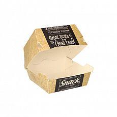 Burgerboxen, Pappe pure 7 cm x 9 cm x 9 cm Good Food klein, Papstar (86634), 500 Stück