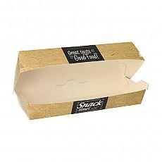 Baguetteboxen, Pappe pure 6,2 cm x 7,5 cm x 21 cm Good Food, Papstar (86635), 300 Stück