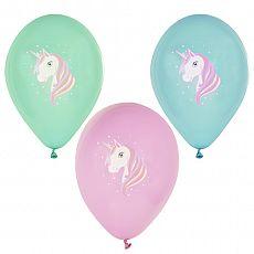 Luftballons Ø 29 cm farbig sortiert Unicorn, Papstar (86740), 72 Stück