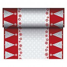 Tischläufer, stoffähnlich, Airlaid 24 m x 40 cm bordeaux Starry Sky, Papstar (86774)