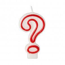 Geburtstagskerze 7,3 cm weiss ? mit rotem Rand, Papstar (86997)