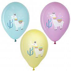 Luftballons Ø 29 cm farbig sortiert Lama, Papstar (87031)