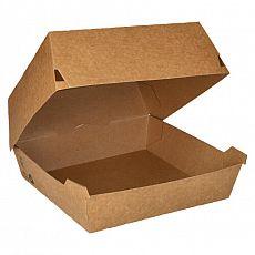 Burgerboxen, Pappe pure 9 cm x 15,5 cm x 15,5 cm braun 100% Fair extra groß, Papstar (87248), 225 Stück