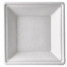 Teller tief, Zuckerrohr pure eckig 4,5 cm x 26 cm x 26 cm weiss, Papstar (87312)