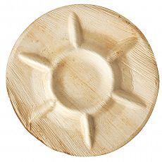 Teller, Palmblatt pure 7-geteilt Ø 30 cm, 2,5 cm, Papstar (87364), 36 Stück