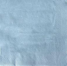 Servietten, 3-lagig 1/4-Falz 33 cm x 33 cm hellblau, Papstar (87404), 300 Stück