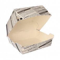 Burgerboxen, Pappe 7 cm x 11 cm x 11,5 cm Newsprint groß, Papstar (87521), 400 Stück