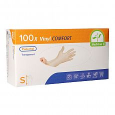 Medi-Inn® PS Handschuhe, Vinyl puderfrei Comfort Größe S, Medi-Inn (93021), 100 Stück