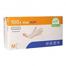 Medi-Inn® PS Handschuhe, Vinyl gepudert Light transparent Größe M, Medi-Inn (93401), 100 Stück