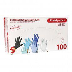 Top Glove Handschuhe, Latex puderfrei Shield perfect weiss Größe S, Top Glove (95989), 100 Stück