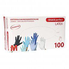 Top Glove Handschuhe, Latex puderfrei Shield perfect weiss Größe M, Top Glove (95990), 100 Stück