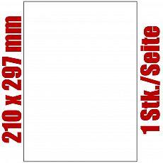 Primus Blatt selbstklebende Universal-Etiketten weiß auf DIN A4, 210 x 297 mm, 9103-0, 100 Stück